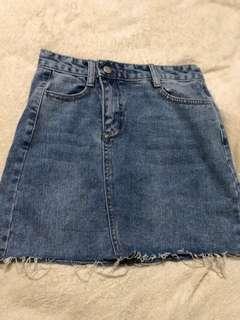 hight waisted Denim Skirt
