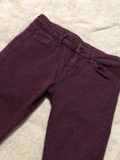 uniqlo maroon jeans