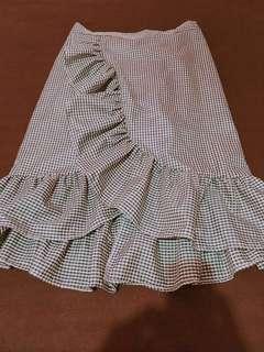 Green Gingham Skirt