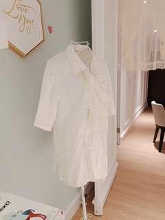 🚚 《赫本聖潔維納斯》日本帶回 日系襯衫重工蕾絲白色系單品