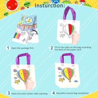 🖍In stock! Paint your own recycle bag!