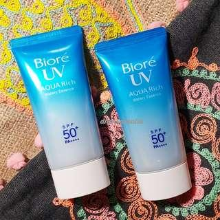Biore UV Aqua Rich Watery Essence SPF 50+ PA+++ (preloved tinggal 1 pc; masih > 85%)