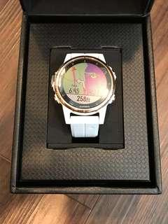 BNIB Garmin Fenix 5S Plus (Sapphire, Rose Gold-tone with Carrara White Band)