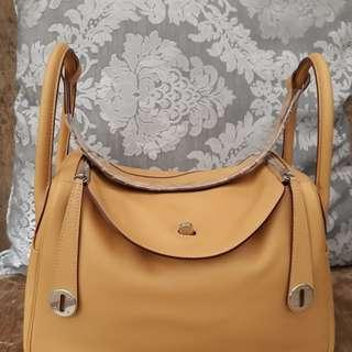 Hermes authentic Lindy 30 swift curry