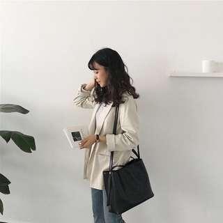 🚚 Black Faux Leather Handle Sling Shoulder Bag