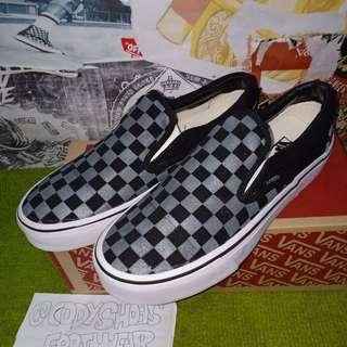 Vans Slip on Chekerboard grey black