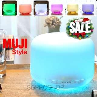 NEW YEAR SALE. Free 2x Essential Oil. Muji Style 500ml Multi Color LED Lights Aroma Diffuser and Humidifer. Best as Gifts and Presents.