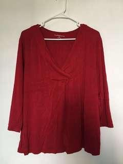 Croft & Barrow Red Blouse