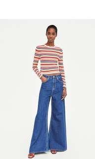 Zara striped knit sweater
