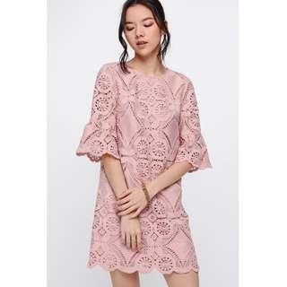 Love Bonito Hadetta Bell Sleeve Lace Dress