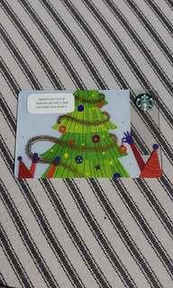 NEW Christmas edition starbucks card 2018