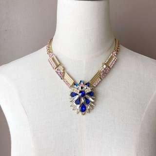 Ann Taylor Glamour Gem Statement Necklace