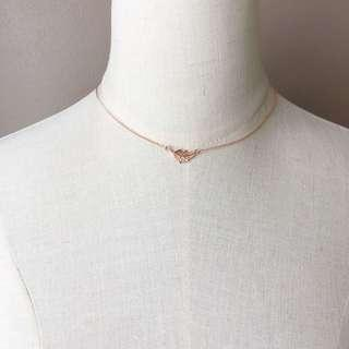 Whistle Rose Gold Palm Leaf Necklace