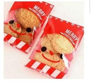Self Adhesive Christmas Cookie Wrapper