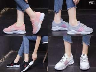 Fashion Shoes Women Series V81 Material Kanvas ,Tapak Karet Quality Semi Premium Weight 600g  Ready 4 Colours  WHITE, PINK, BLACK, GREY  Size 36-40 Insole 36 : 23cm 37 : 23.5cm 38 : 24cm 39 : 24.5cm 40 : 25cm