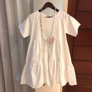 Premium korean dress+necklace