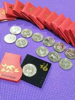 12pc of sg animals  coins 12pc offer $160