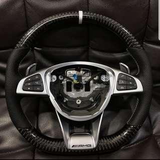 Mercedes AMG carbon theme steering w176 w205 w213 w212