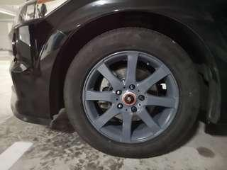 Rims respraying service for cars