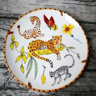 Trekking into an Indian Territory Jungle Animal Plate