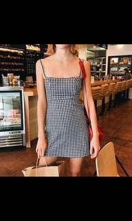 Plaid Strap Beach Dress