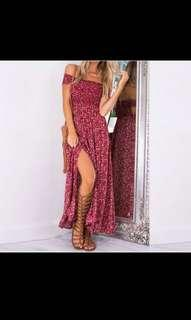 Women Floral Summer Boho Long Maxi Evening Party Beach Dress