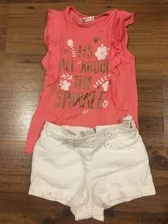 Gingersnaps shorts and pink shirt