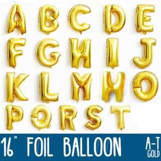 🌟 16 inches Gold Foil Balloon (A to Z) (0 - 9) 🌟