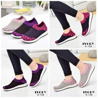 IVORY Fly Knit Sneaker Shoes