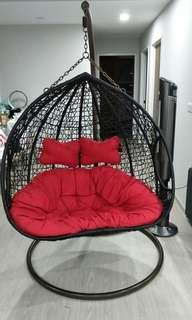 Rattan Swing Chair (double seater)