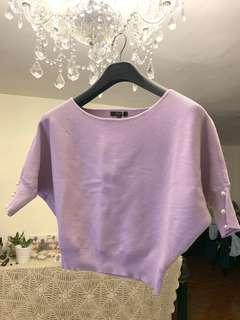 Purple bat sleeve knitted top 紫色蝙蝠袖針織上衣