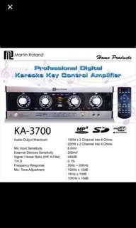 Martin Roland KA-3700B digital karaoke mixing key control amp