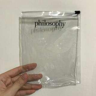 Philosophy肌膚哲理logo透明塑膠夾鏈袋/防水袋/收納袋/旅行盥洗包
