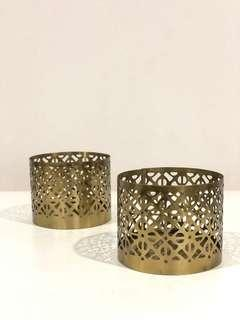 H&M gold candle holder