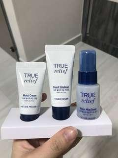 Etude House Moisturizing Skin Care Kit (True Relief)