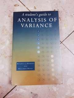 Analysis of Variance by Maxwell J.Roberts and Riccarso Russo #1212