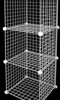 (Rent) Wire Mesh Display Rack in Black