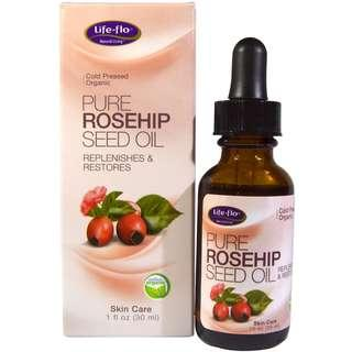 [Ready Stock] Life Flo Health Organic Pure Rosehip Seed Oil Skin Care 30ml