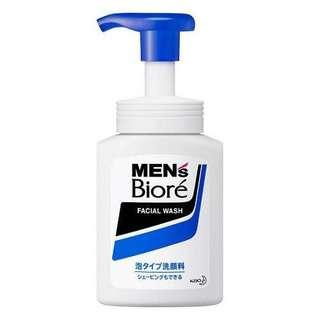 日本限定 Biore Mens Facial Wash Pump 150ml - Bubble Type