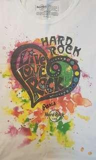 """🚚 Hard Rock Cafe Paris""""live love rock"""" graphic T-shirt"""