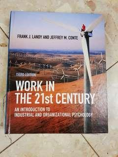 Work in the 21st Century an introduction to industrial and organizational psychology by frank j landy and jeffrey m conte