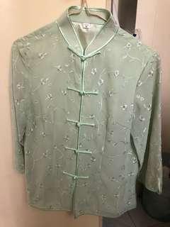 (代放)女裝青綠色中式上衣