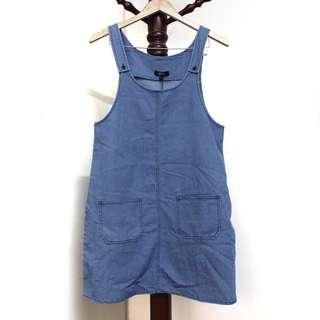 Light-washed Denim Pinafore Dress #MY1212