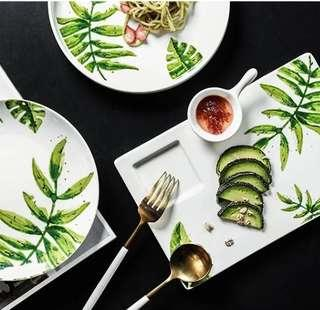 Green Is In Urban Jungle Series Botanical Foliage Plate