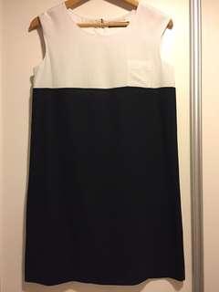 G2000 斯文裙 番工裙 one piece dress 西裙 black and white