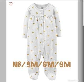 *NB/6M/9M* BN Carter's Hearts Sleep And Play For Baby Girl