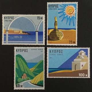 Cyprus 1971. Tourism complete stamp set