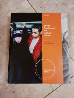 Social Psychology and Human Nature by Roy F Baumeister and Brad J Bushman