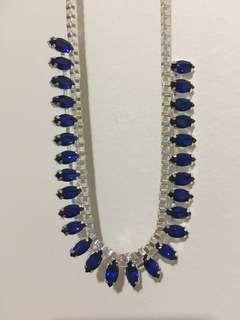 PiPeR blue crystal necklace