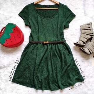 405 || F21 Green Dress